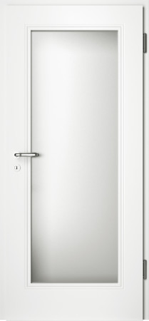 Weiße gefräste Tür Arto 10 mit Glaseinsatz (Arto-10-LA)