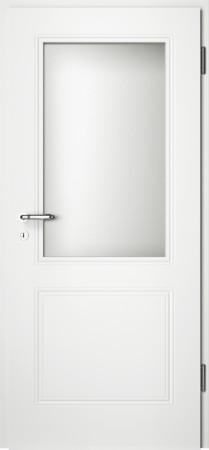 Weiße gefräste Tür Arto 20 mit Glaseinsatz (Arto-20-LA)