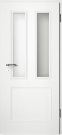 Weiße gefräste Tür Arto 31 mit Glaseinsatz (Arto-31-2LA)