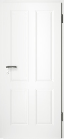 Weiße gefräste Tür Arto 40 ohne Glaseinsatz (Arto-40)