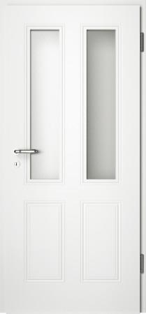 Weiße gefräste Tür Arto 40 mit Glaseinsatz (Arto-40-2LA)