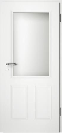 Weiße gefräste Tür Arto 40 mit großem Glaseinsatz (Arto-40-LA)
