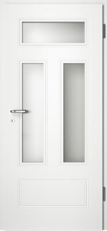 Weiße gefräste Tür Arto 41 mit Glaseinsatz (Arto-41-3LA)