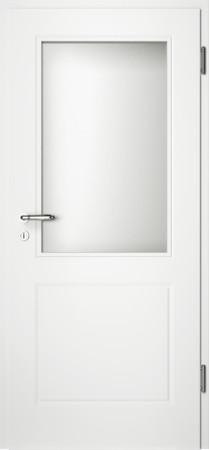 Weiße gefräste Tür Chello 20 mit Glaseinsatz (Chello-20-LA)