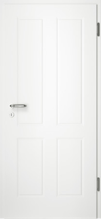 Weiße gefräste Tür Chello 40 ohne Glaseinsatz (Chello-40)