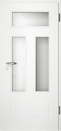 Weiße gefräste Tür Chello 41 mit Glaseinsatz (Chello-41-3LA)