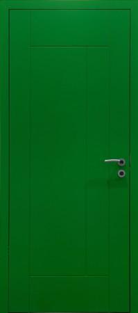 Innentür gelbgrün lackiert (Lack RAL6018)