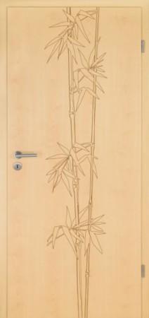 Ahorn Innentür mit Bambusfräsung, Lebolit (Lebolit Ahorn Verano 12)