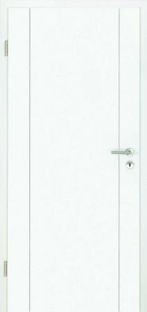 Luana Weißlacktür mit Fräsung links und rechts (Luana 4)