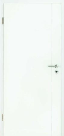 Luana Weißlacktür mit einer Fräsung neben der Türklinke (Luana 5)