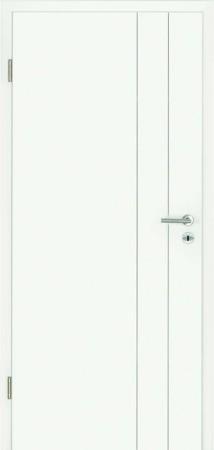 Luana Weißlacktür mit zwei Fräsungen neben der Türklinke (Luana 6)