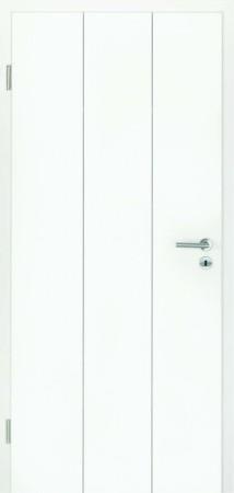 Luana Weißlacktür mit Dreiteilung durch Fräsungen hochkant (Luana 8)
