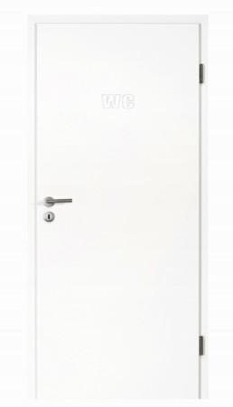 Maßgefräste Tür mit WC Symbol