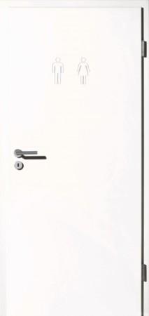 Maßgefräste Innentür mit WC Icon