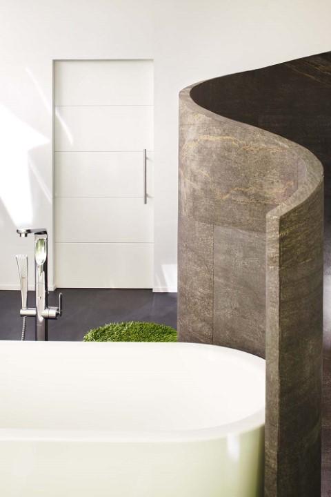 Weiße Schiebetür fürs Badezimmer(Schiebetuer Luana 1)