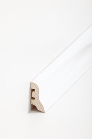 Sockelleiste weiß mit Kerben für Kabel (22.40.31)