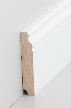 Hohe weiße Sockelleiste mit Verzierungen (319.19100.31)
