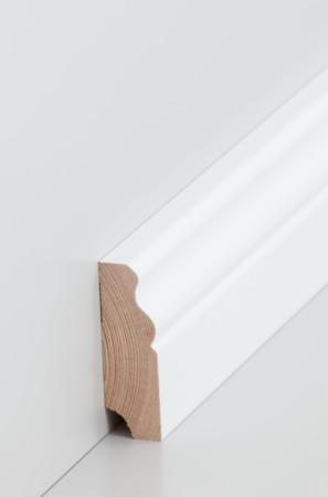 Niedrige weiße Sockelleiste mit Verzierungen (319.1960.31)