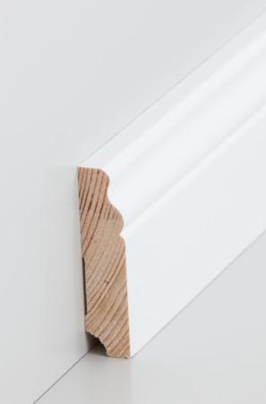Mittel-hohe weiße Sockelleiste mit Verzierungen (319.1980.31)