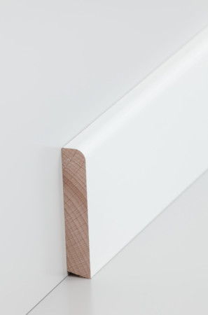 Flache hohe Sockelleiste in weiß 60.13.70.31)