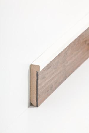 Sockelleiste aus Holz mit weißem Abschluss (725.5127)