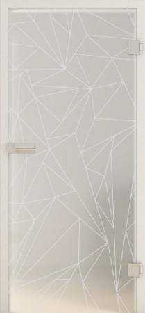 Blickdichte Glastür mit abstraktem geometrischem Muster (GRIDS LD 693 TwoSides)