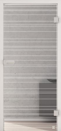 Glastür mit feinen weißen Linien (Jette-Lines 814)
