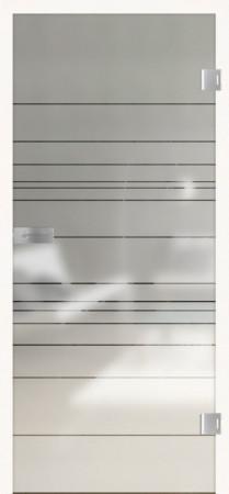 Blickdichte Glastür mit transparenten Linien (Lines Different 570)
